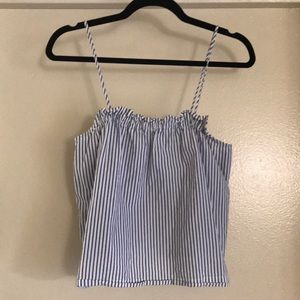 H&M striped blue and white tank.